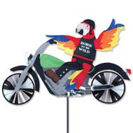 Biker Lawn Spinner - Biker Parrot