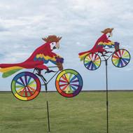 Biker Lawn Spinner - Parrot