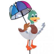 Lawn Spinner - Mallard Duck With Umbrella