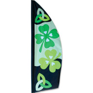 8.5' St. Patrick's Day Feather Banner