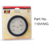 110WMG Reverse Round Light With Black Grommet, Multivolt Single Pack