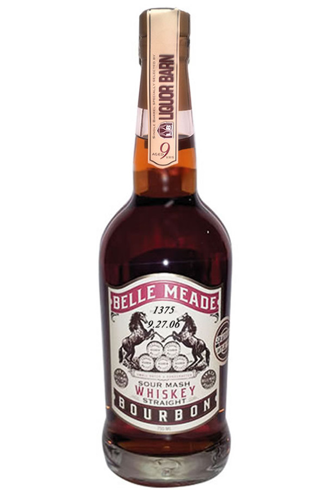 Belle Meade 9 Year Single Barrel Liquor Barn Hand Selected Cask Strength