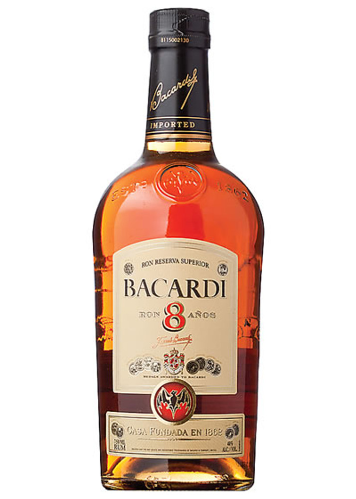 Bacardi Rum 8 Years Old 750