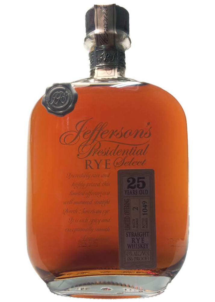 Jefferson's Presidential Select 25 Year Rye