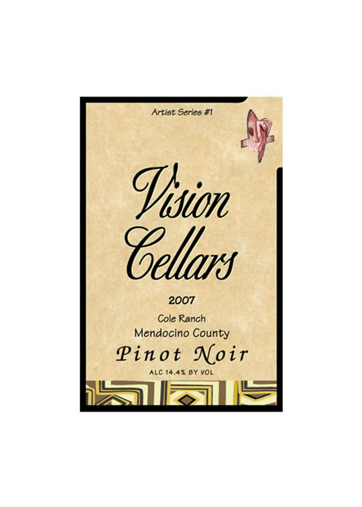 Vision Cellars Pinot Noir Mendocino County Cole Ranch