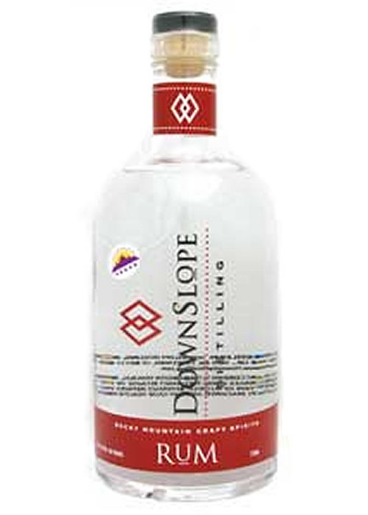Downslope Distilling White Rum