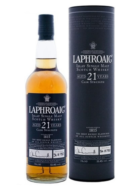 Laphroaig 21 Year Old Cask Strength 750ML