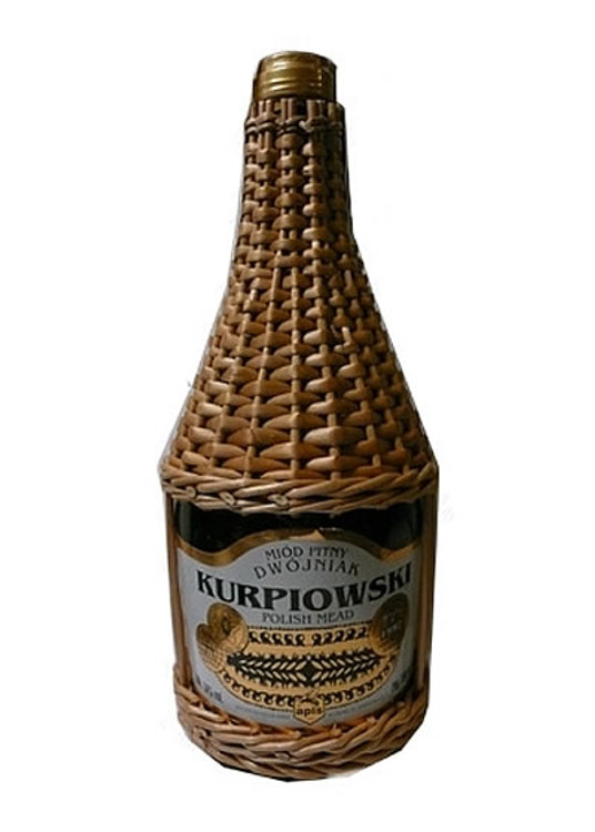 Apis Kurpiowski Honey Mead Wicker Bottle