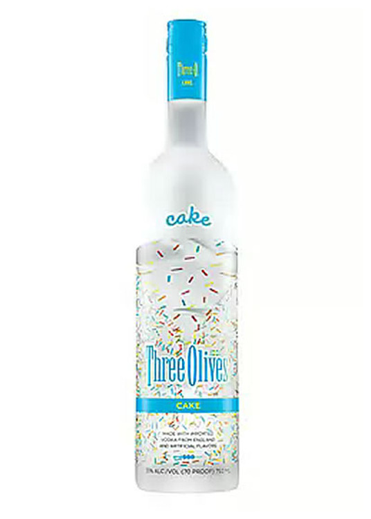 Three Olives Cake 750ML