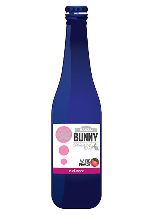 Banzai Bunny Sparkling White Peach Sake 300ML