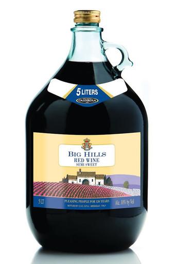 Big Hills Semi Sweet Red Wine