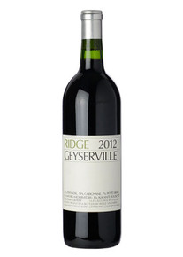 Ridge Vineyards Geyserville Sonoma Zinfandel 2012