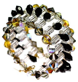 High end designer swarovski crystal cuff bracelet by the renowned Karen Curtis Jewelry Company in NYC