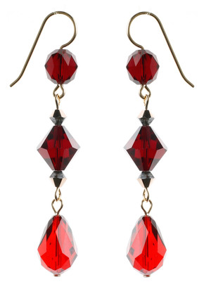 Rare Vintage Swarovski Crystal Earrings on 14K GF by Karen Curtis in NYC.