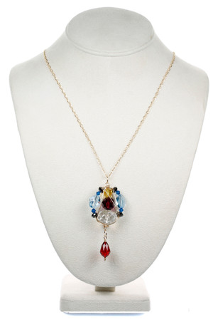 Chunky Colorful Pendant Necklace - Tiffany