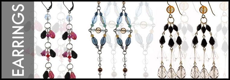 Designer Earrings for all occasions made with Swarovski Crystal.