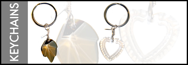 Key rings made with Swarovski crystal