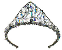 Rare vintage SWAROVSKI ELEMENTS are woven with sterling silver to create a spectacular display of color and sparkle on your wedding day