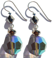 Limited edition designer earrings on french wire Exclusively Made with Swarovski crystal
