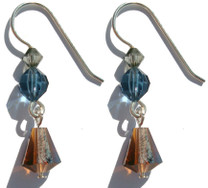 Limited edition designer earrings handcrafted by new york jewelry designer Karen Curtis on sterling silver, exclusively made with Swarovski® crystal