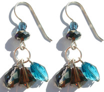 Swarovski designs by Karen Curtis. Triple drop earrings with rare and discontinued Swarovski crystals