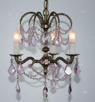 PINK PETITE CHANDELIER