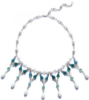 Elegant one of a kind necklace made with Swarovski crystal and sterling silver