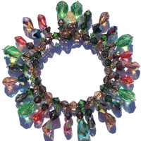 Designer martini bracelet made with rare and vintage Swarovski crystal on gold filled