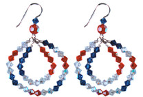 Beautiful, Patriotic, and Fashion Forward double hoop earrings