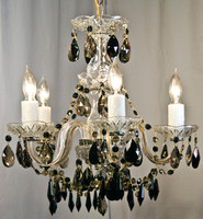 Jet Golden Glass Chandelier