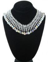 Large Swarovski Crystal Bridal Necklace by Karen Curtis NYC