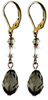 Classic Black Diamond drop earrings made with rare Swarovski Elements.