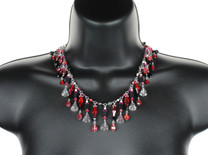 Elegant, Sexy and the perfect jewelry for Valentines Day.  This necklace is individually pieced together using sterling silver and incorporates rare, antique and discontinued Swarovski crystals.  This is a new design style for Karen&#039;s 2012/13 jewelry collections and has been made in a very limited quantity.