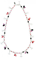 Classic and elegant necklace design made with rare and antique Swarovski crystals.  The metal is sterling silver.  The necklace can also be adjusted to different lengths depending on the neck line of your outfit.