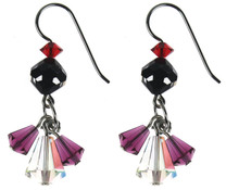 Swarovski crystal triple drop earrings Amore collection