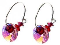 Swarovski crystal hoop earrings Amore Collection