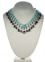 Swarovski crystal glamour necklace by Karen Curtis NYC