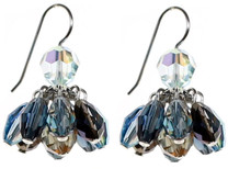 Elegant designer crystal cluster earrings by Karen Curtis NYC