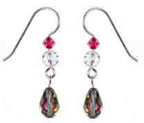Special effect Swarovski crystal earrings by Karen Curtis NYC