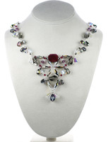 A luxurious crystal necklace made with all rare Swarovski crystal by Karen Curtis NYC
