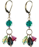 Crystal Triple Drop Earrings made with Swarovski by Karen Curtis NYC