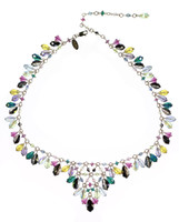 colorful swarovski crystal necklace by Karen Curtis NYC
