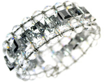 Beautiful and elegant cuff bracelet using crystal, crystal AB and silver coated crystal SWAROVSKI ELEMENTS
