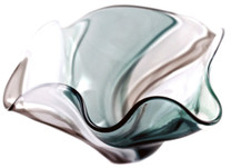 hand blown glass floppy bowl by the Karen Curtis Company