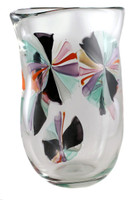 Artistic hand blown glass vase made in NYC by the Karen Curtis Company