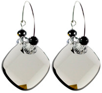 Beautiful grey Swarovski crystal earrings by the Karen Curtis Jewelry Company in NYC