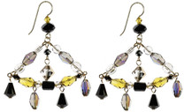 Colorful Swarovski crystal chandelier earrings. The great gatsby collection by The Karen Curtis Jewelry Company  in NYC.