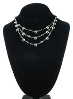 Elegant crystal layer necklace with vintage swarovski crystal by the karen curtis company in nyc.