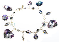 Charm Bracelet made with Swarovski Crystal from The Grand Central Holiday Fair in NYC