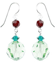 Peridot Swarovski Crystal Earrings for Christmas by The Karen Curtis Jewelry Company in NYC